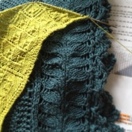 2013_Rosemarie's Garden desing swatch and A Modern Victorian Shawl_AEWhite