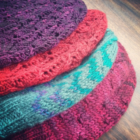 Stacks of hats are coming this fall to JahDoily Knits