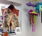 Felted vest by Gwen Martinuk and mobil by Sara Holbrook & Althea Mongerson